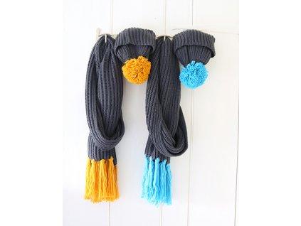 Pletený set čepice a šály - pánský
